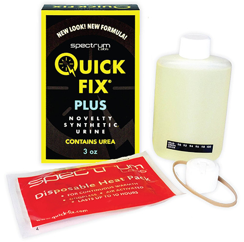 quick luck fix 6.2 synthetic urine new formula with plastic container, temperature strip and heat pads